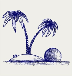 Island palm vector