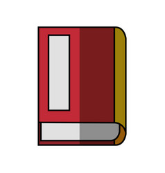 Book literature isolated vector