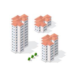 Isometric 3d dimensional skyscraper building of vector