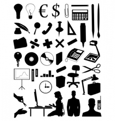 office subjects vector image
