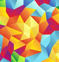 Modern retro pattern of geometric shapes colorful vector