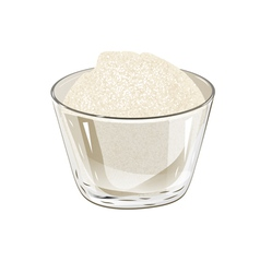 Bowl of sugar vector