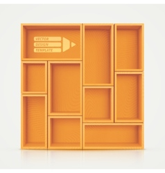 Shelves for design vector
