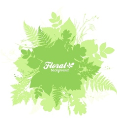 Green isolated foliage silhouettes trendy banner vector