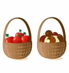 Baskets filled vector