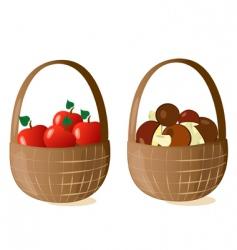 baskets filled vector image