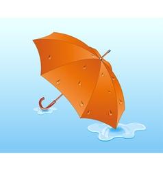 Orange umbrella vector