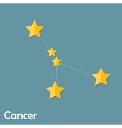 Cancer zodiac sign of the beautiful bright stars vector