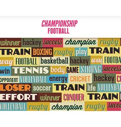 With sport typography vector