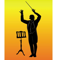 Music conductor vector