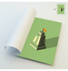 A4 business blank leader concept tower 3d vector