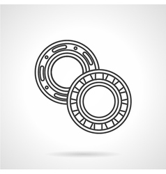 Two bearings flat line icon vector