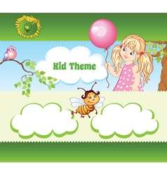 Kid web template vector