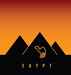 Egypt with camel vector