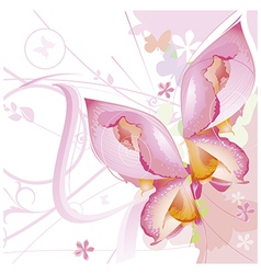Floral background in pastel colors vector