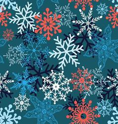 Multi-colored snowflakes form a beautiful pattern vector