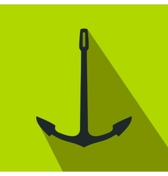 Old anchor flat icon vector