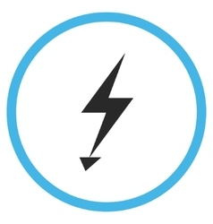Electric strike flat rounded icon vector
