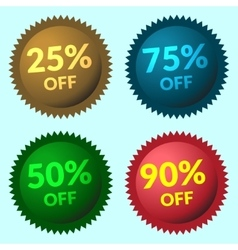 Sale sign color vector