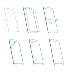 Smart phone screen protector vector