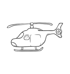 Helicopter icon transportation design vector
