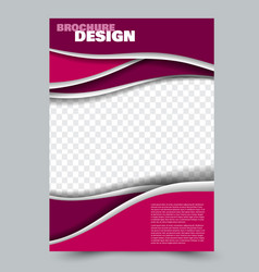 abstract flyer design background brochure vector image vector image