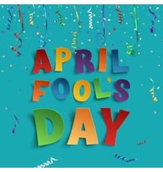 April fools day background template vector
