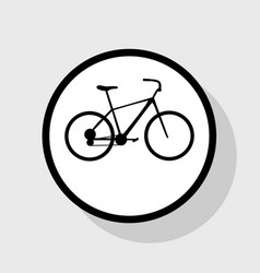 Bicycle bike sign flat black icon in vector