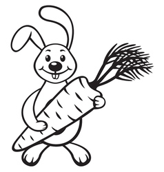 Bunny with carrot vector