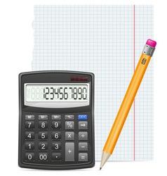 calculator 04 vector image vector image