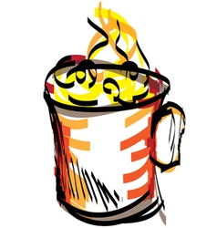 cup sketch vector image vector image