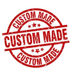 Custom made round red grunge stamp vector