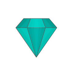 diamond flat vector image