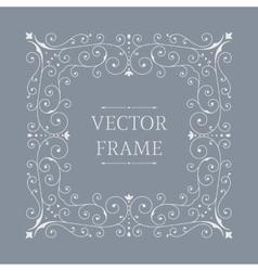 Elegant luxury floral frame vector image