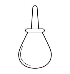 Enema icon outline style vector