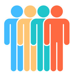 four man sign people icon vector image vector image