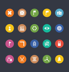 Glyphs colored icons 40 vector