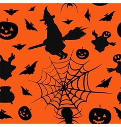 Halloween card seamless pattern background vector