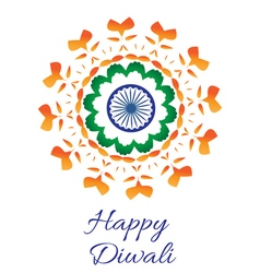 Happy Diwali Indian Festival of Lights Diwali vector image vector image