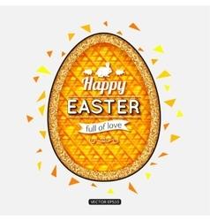 Happy Easter Background Easter egg Easter poster vector image