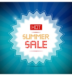 Hot Summer Sale Title on Blue Background vector image
