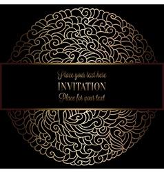 Invitation decorative golds 31 vector