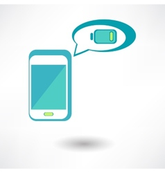 Isolated man hand holding the phone with low vector