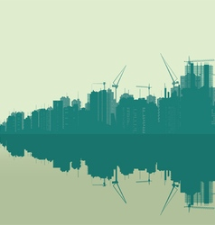 Landscape of a very large city vector