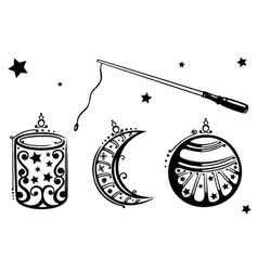 Lanterns vector image vector image