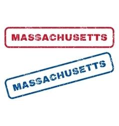Massachusetts rubber stamps vector