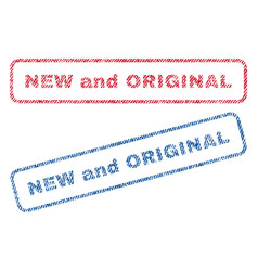 new and original textile stamps vector image vector image
