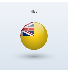 Niue round flag vector image vector image