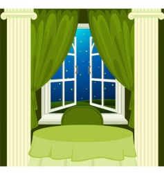 open window at night vector image