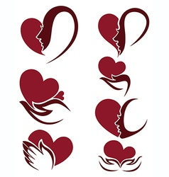 people and hearts vector image vector image